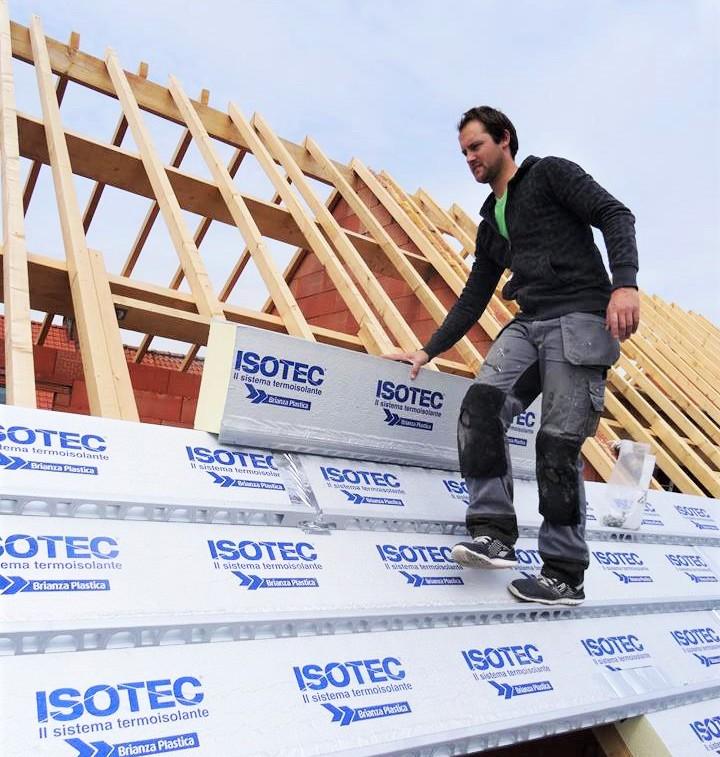 ISOTEC szarufa feletti hőszigetelő rendszer munkafolyamatai